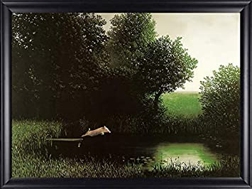 Diving Pig by Michael Sowa 32×23 Quality Framed Art Print Diving Dock Funny Picture