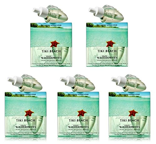 Tiki Beach Wallflowers Lot of 10 Refills - Bath & Body Works Discontinued (Beach Tiki Bath)