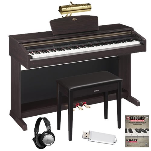 Yamaha YDP-181 Digital Piano HOME BUNDLE w/ Bench, Lamp, & H