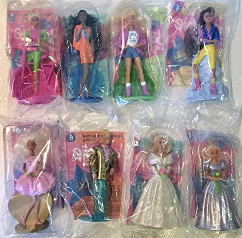 Barbie Set of 8 McDonald's Figures Dated 1994 - #2