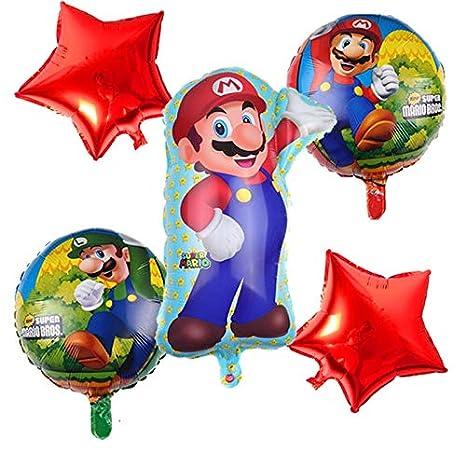 LIZHIOO 6 Piezas Globos de Super Mario Globos de números de ...