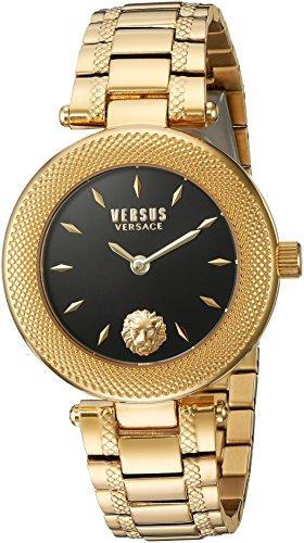 Versus by Versace Women's 'VERSUS BRICK LANE' Quartz Stainless Steel Casual Watch, Color:Gold-Toned (Model: - India Versace