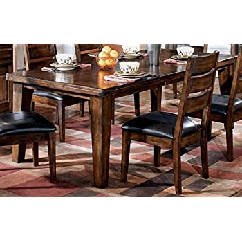 Ashley Furniture Signature Design   Larchmont Dining Room Table   Old World  Style   Burnished Dark