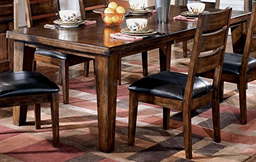 Ashley Furniture Signature Design - Larchmont Dining Room Table - Old World Style - Burnished Dark Brown by Signature Design by Ashley