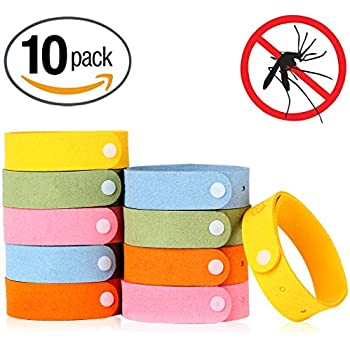 Mosquito Repellent Bracelet, Rabosky Non-Toxic Insects Repellent WristBand Made of 100% Natural Plant-Based Oil & Deet-Free Microfiber, Safe for Kids & Adults, Great for Picnicking (Multi)