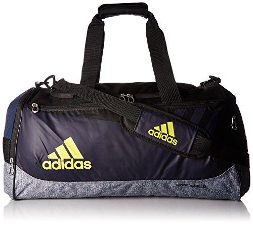 (adidas Team Issue Duffel Bag, Collegiate Blue/Onix Jersey/Semi Solar Yellow/Black, Medium)