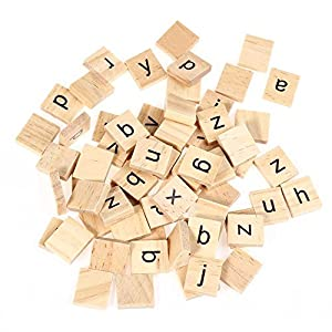 amazon com child early learning wooden scrabble tiles lowercase