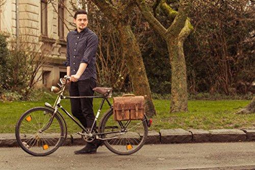 Gusti Leder studio Marc 15,6 Fahrradtasche ohne KLICKfix Radtasche Gepäcktasche Gepäckträgertasche Collegetasche Unitasche Businesstasche Citytasche Aktentasche Dokumententasche Damentasche Herrent