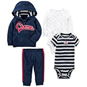 Simple Joys by Carter's Boys' 4-Piece Little Jacket Set, Navy Champ, 0-3 Months