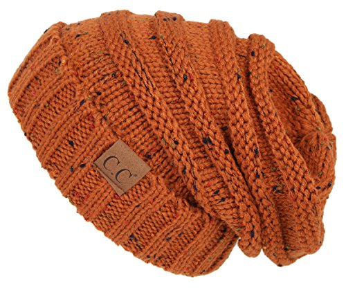 Funky Junque H-6100-2068 Oversized Slouchy Beanie -Confetti Rust