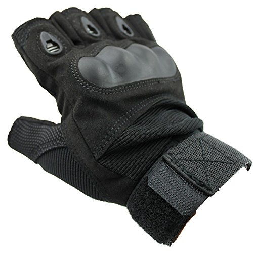 Dealzip Inc Gloves Motorcycle Men Fashion Black Outdoor Sports Military Tactical Airsoft Hunting Riding Cycling Half-finger Gloves (Size: X-Large) Basic Riding Gloves