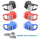 Kitbest Bike Light, Bicycle LED Lights Front and Back, Silicone Mountain Bike Headlight and Taillight Set, Waterproof & Easy to Install Bike Flashlight. Batteries Included - 6 Pack