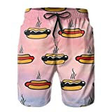 confirm vt Men's Beach Shorts Swim Trunks Hot Hot Dog Board Shorts with Pockets