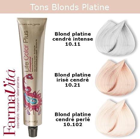FarmaVita - Coloración para cabello – Tonos rubios platinos cenizas rubio platino irisado 10.21