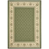Safavieh Courtyard Collection CY0901-1E06 Olive and Natural Indoor/Outdoor Area Rug (9′ x 12′) Review