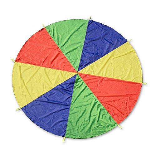 OSOPOLA Parachute Play Tent 6.5ft Kids Parachute with 8 Handles -