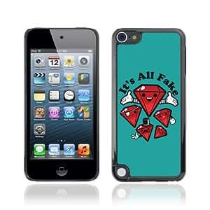 CQ Tech Phone Accessory: Carcasa Trasera Rigida Aluminio Para Apple iPod Touch 5 - Funny Fake Diamonds Illustration