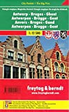 Antwerp - Bruges - Ghent: FB City Pocket Map (English, French and German Edition)
