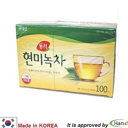 Korea Dong Suh - Bolsas de té de arroz color marrón y verde ...