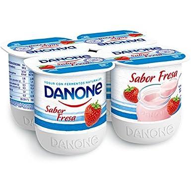 Danone - Yogur Sabor Fresa, Pack 4 x 125 g: Amazon.es: Alimentación y bebidas