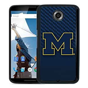 Fashionable And Unique Designed Case For Google Nexus 6 Phone Case With Ncaa Big Ten Conference Football Michigan Wolverines 1 Black