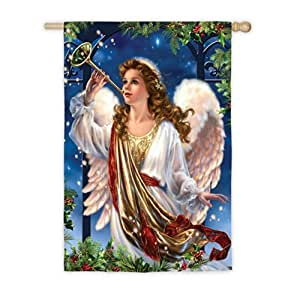 Herald Angel Blowing Trumpet House Flag