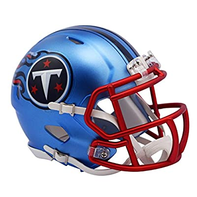 Tennessee Titans - Blaze Alternate Speed Riddell Mini Football Helmet - New in Riddell Box