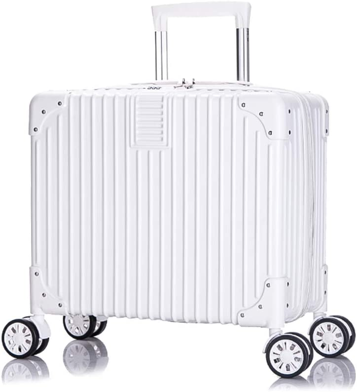 Qzny Suitcase Trolley Case Luggage Small Suitcase Box Travel Bag Unisex Waterproof Hand Bag 18 Inch Large Capacity Boarding Universal Wheel Lock Box Mini Color : A, Size : 404023cm