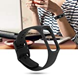 KSTE One-Piece Solid Color Silicone Watch Strap for