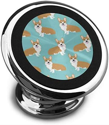 かわいい犬 携帯電話ホルダー おしゃれ 車載ホルダー 人気 磁気ホルダー 大きな吸引力 サポートフレーム 落下防止 360度回転