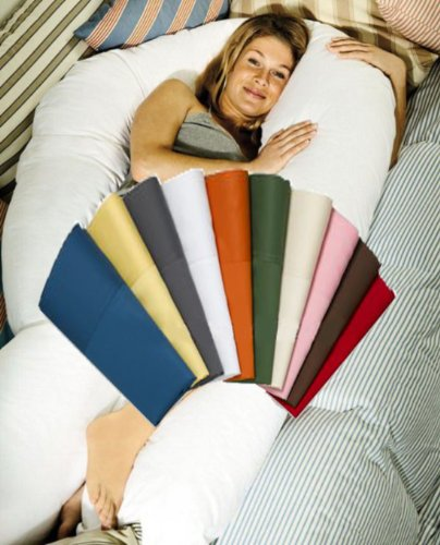 Moonrest-U-Body-Pregnancy-Pillow-Replacement-Cover-Easy-On-off-Zipper