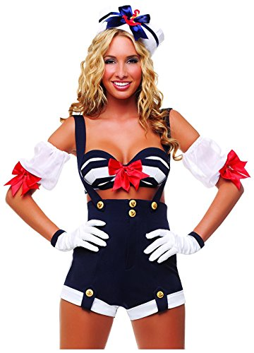 Starline Women's Makin' Waves Sexy Sailor Costume Set, Blue, -