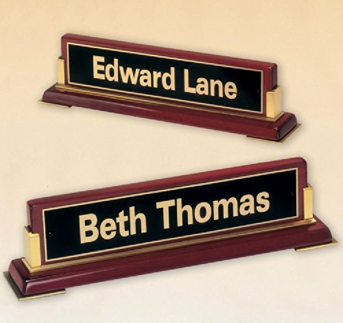 Executive Name Plate with Free Engraving ()