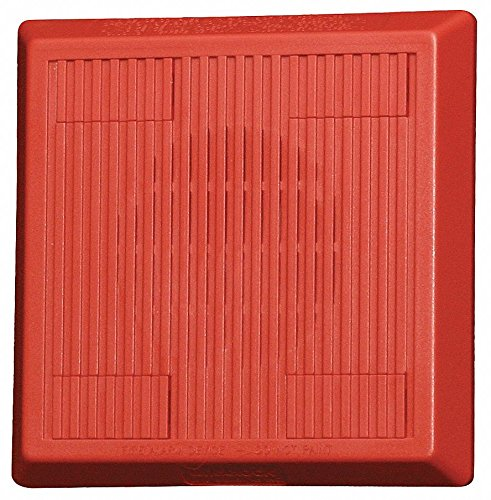 Multitone Horn, 12/24VDC, Red, 5-1/4 in. H by Wheelock