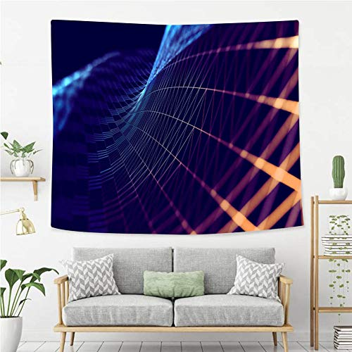 BEIVIVI Creative Custom Tapestry Mesh or net with Lines and Geometrics Shapes Detail 3D Illustration Wall Tapestry with Art Nature Home Decorations