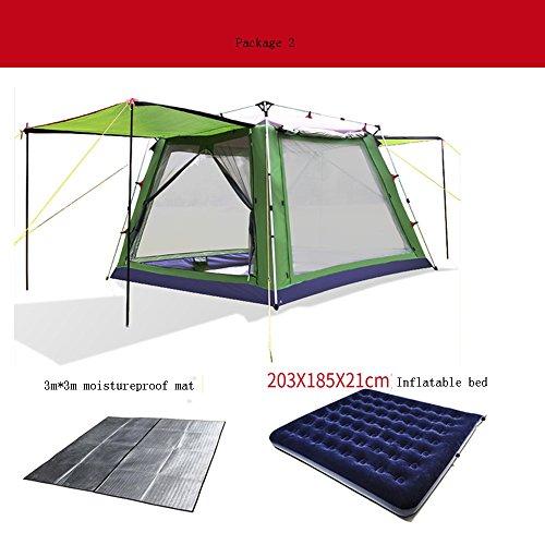 悩みファンブル流すQFFL zhangpeng テントフルオートサンプロテクションレインテント5-8屋外ビーチ設備3-4キャンプテント5色オプショングラスグリーン トンネルテント ( 色 : D )