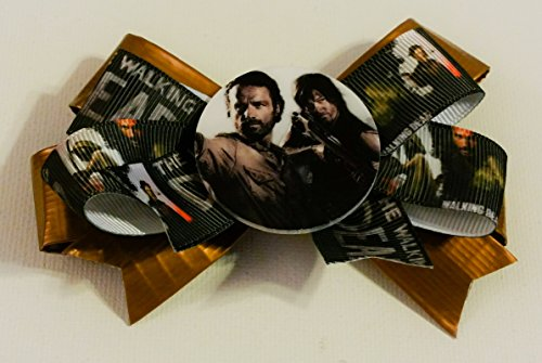 Rick and Daryl Duct Tape and Ribbon Hair Bow