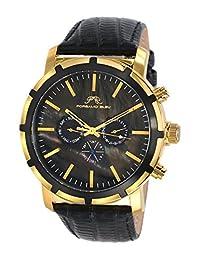 Porsamo Bleu NYC Genuine Leather Gold Tone & Black Men's Watch 051BNYL