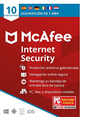 McAfee Internet security 10 dispositivos