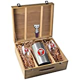 Texas Tech University Wine Glasses Gift Set with Wine Stopper and Chiller