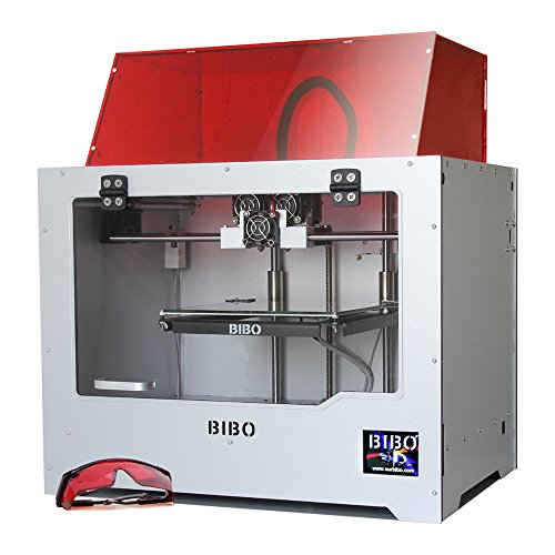 BIBO 3D Printer Dual Extruder Laser Engraving Sturdy Frame WIFI Touch Screen Cut Printing Time In Half Filament Detect removable Glass Bed by BIBO