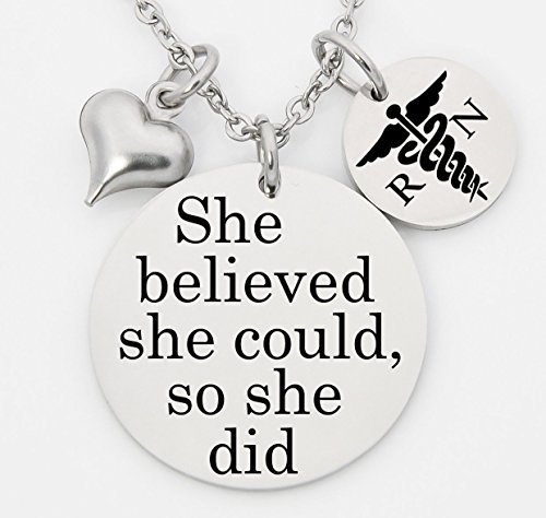 CNA Heart Necklace (Silver) - 2