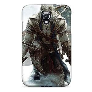 JonBradica Samsung Galaxy S4 High Quality Hard Phone Cover Support Personal Customs HD Assassins Creed 3 Skin [pnL18588SVMQ]