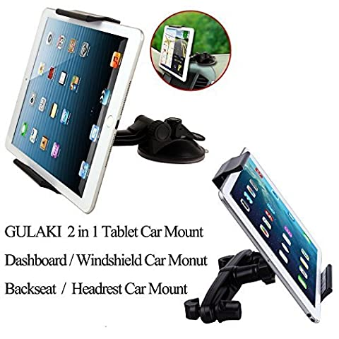 GULAKI 2 IN 1 Car Mount Holder Tablet Stand,Universal Car