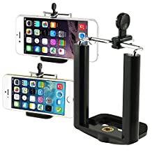 Insten® Camera Stand Clip Bracket Holder Monopod Tripod Mount Adapter For Cell phone iPhone 6 / 6 Plus / 5 / 5S Samsung Galaxy S4 / S4 Active / Note 3 N9000, Black