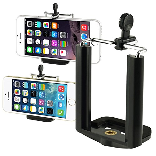 Insten Camera Stand Clip Bracket Holder Monopod Tripod Mount Adapter For Cell phone For iPhone 7/ 7 Plus/ 6S/ 6S Plus, Galaxy S7 Edge/ S7 / S8 / S8+ S8 Plus, LG (Black Camera Holder)