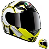 AGV K3 Gothic Full Face Motorcycle Helmet (Multicolor, Medium)
