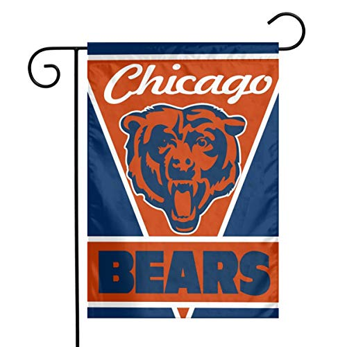 Sorcerer Custom Colorful Garden Flag Football Team Chicago Bears Outdoor House Yard Flag Vertical Double Sided 12 x 18 Inches Indoor Banner Wedding Party Decor (Chicago Bears Wedding)