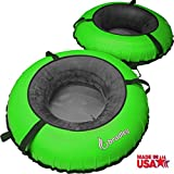 Kyпить Bradley 2 Pack River Tube with Linking Heavy Duty Cover (Bright Green) на Amazon.com