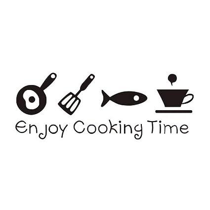 Wsxxnhh Etiqueta De La Pared Caliente Disfrute Del Tiempo De Cocinar Dormitorio Decorativo Cocina Pared Originalidad